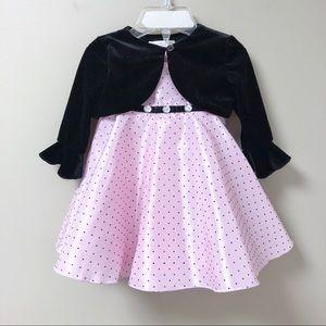 Marmellata Two-Piece Dress Shrug Jacket Polka Dots
